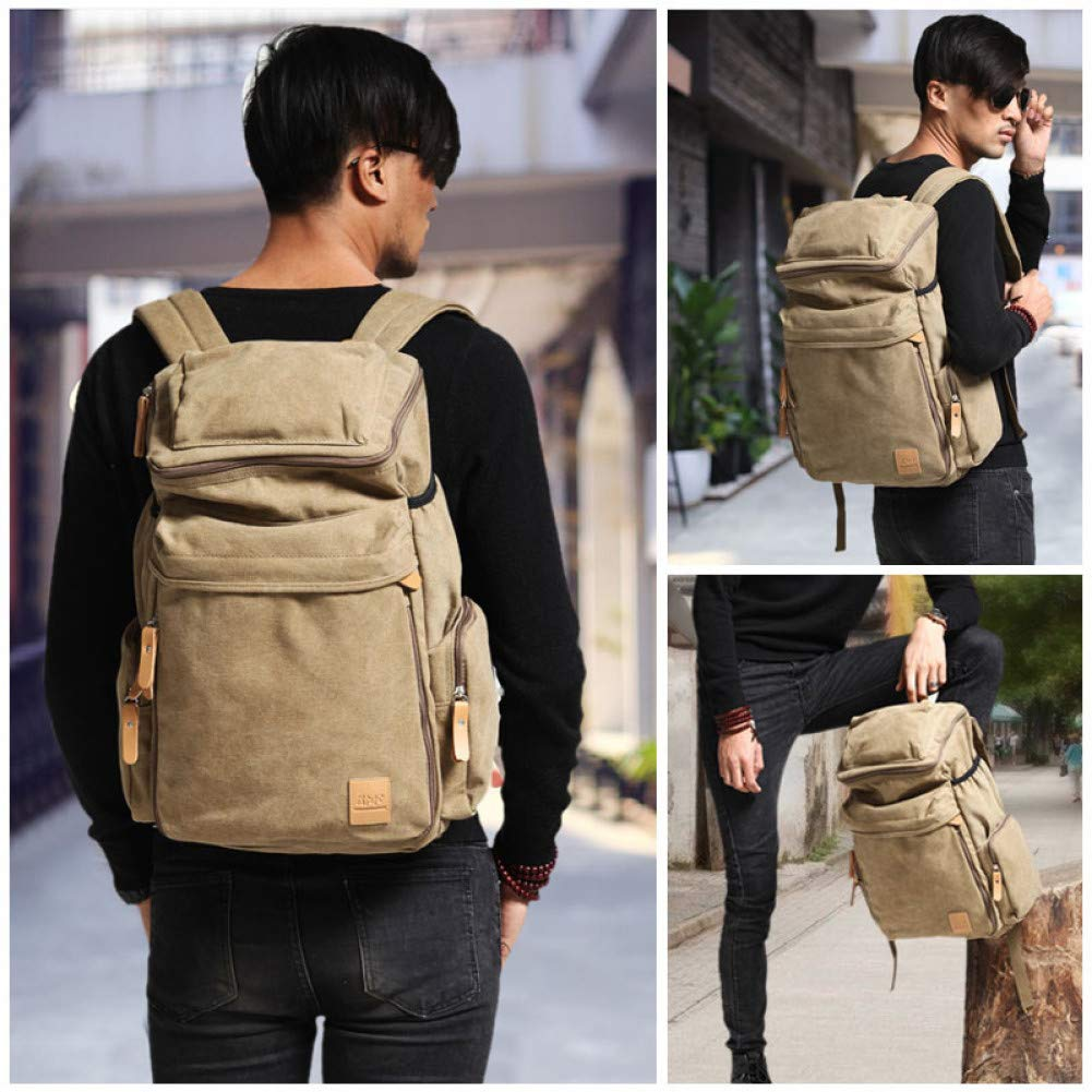 HUYANNABAO Unisex Large Capacity Canvas Backpacks for Men and Women Travel Bags Fitness Outdoor Sports Mountaineering Gym Shoulder Bag