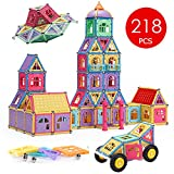 Magnetic Blocks,Banne 218 PCS Magnetic Building Blocks Tiles Educational Toy Set with Instruction Booklet and Storage Box for Kids Good for Enhancing Imagination Creativity and Logical Ability