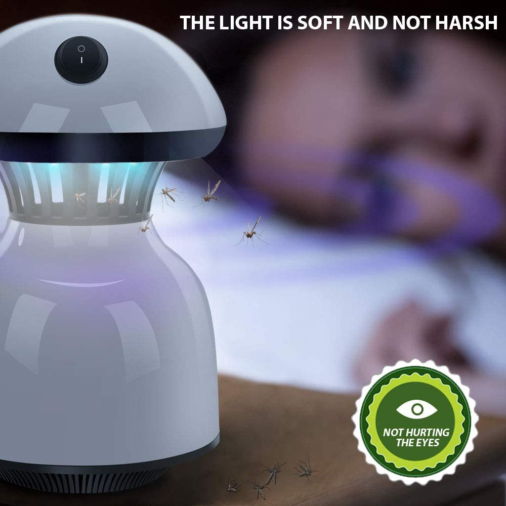 MASTERTOP Multifunction Mosquito Killer Lamp LED Electronic Insect Built in Fan Insect Killer Powered Mosquito Trap Lamp Bug Zapper for Indoor//Outdoor Bedroom Baby Night Light