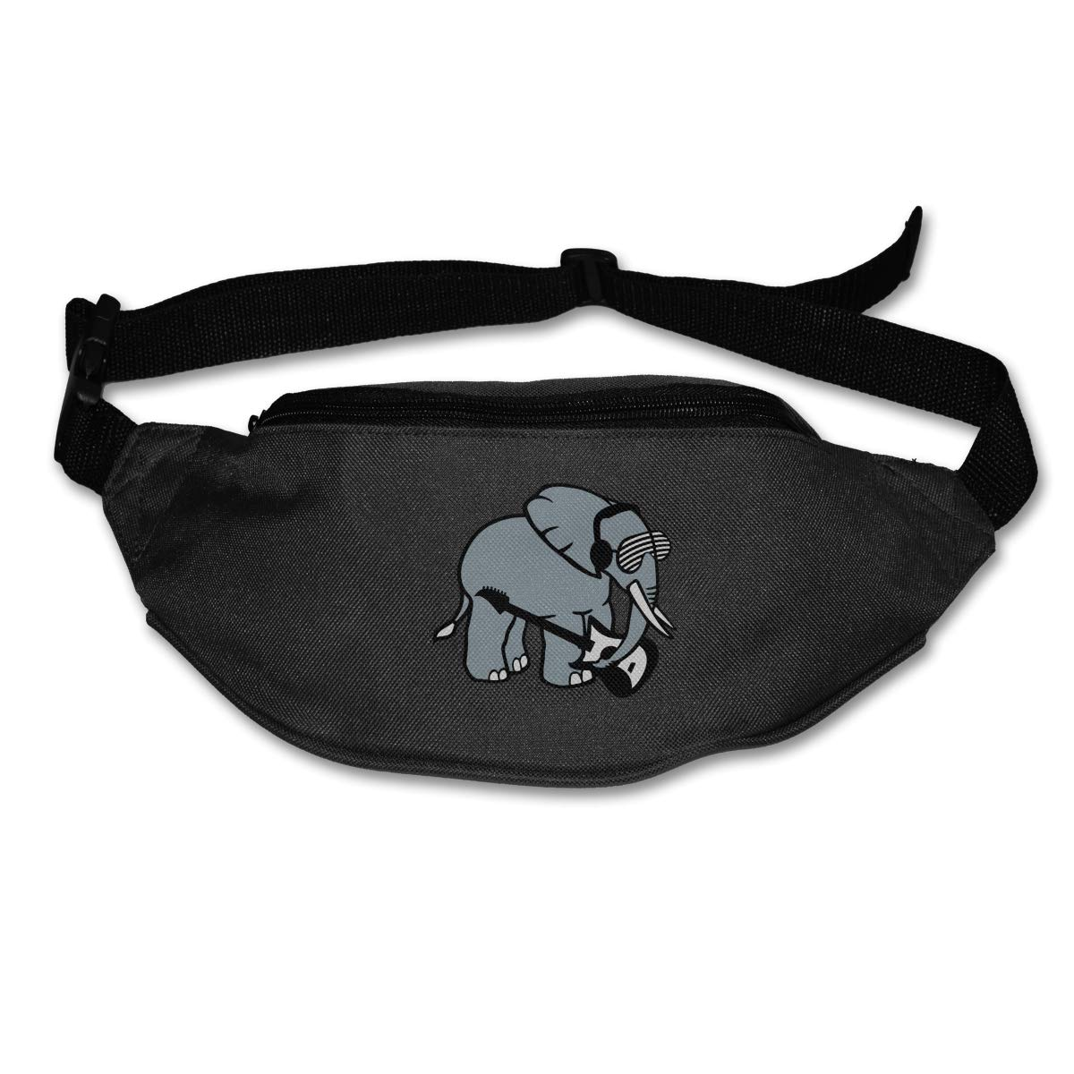 Elephant With Glasses Guitar Sport Waist Bag Fanny Pack Adjustable For Travel