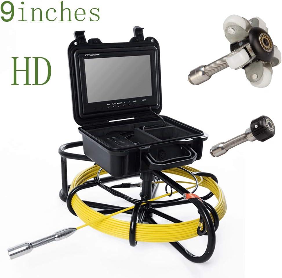 9インチ鉄フレーム工業用パイプ下水道検知23ミリメートルip68防水排水検知1000 tvlカメラ,40m