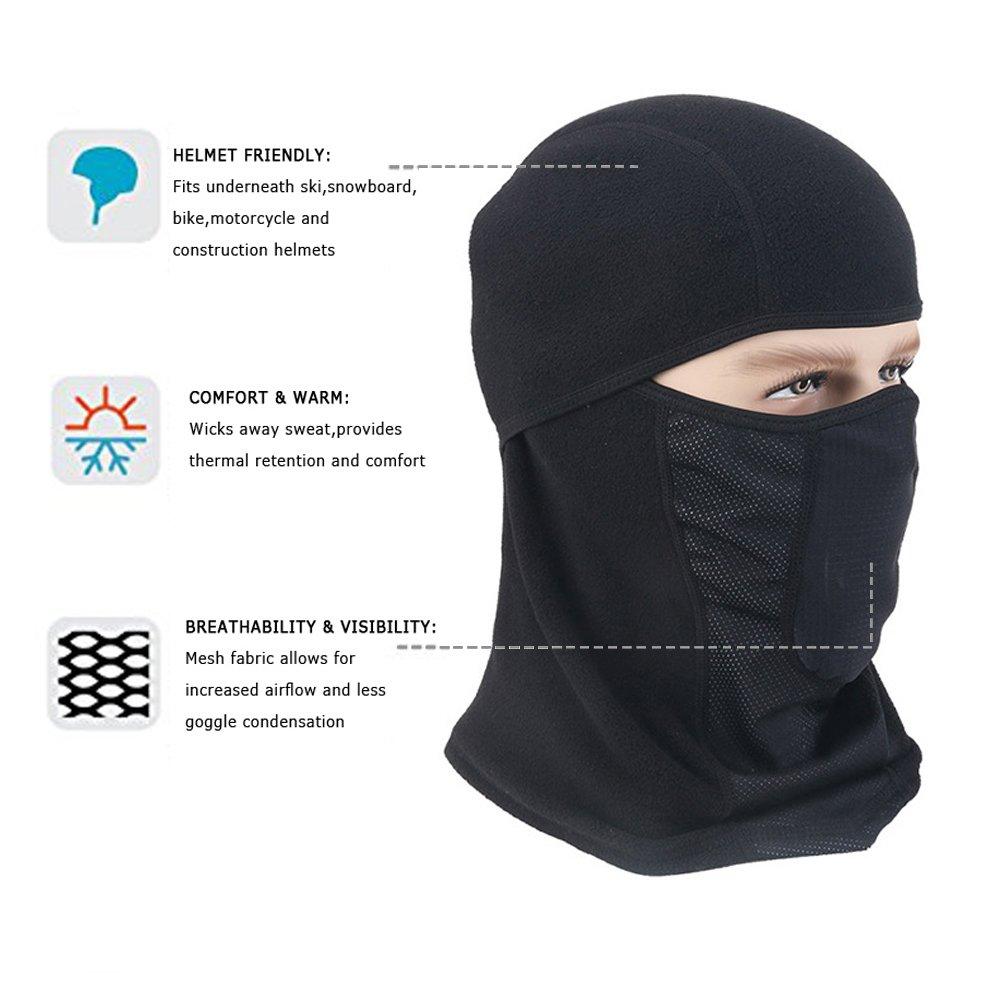 Winter Windproof Balaclava Outdoor Sports Face Mask Black Warm Ski Mask Hood
