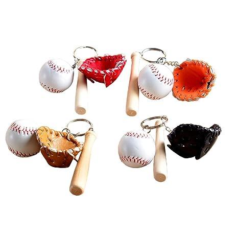 EQLEF® Llavero de béisbol Mini Bate de béisbol Llavero de ...