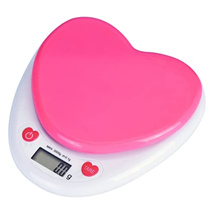 Genial Digital Kitchen Scale, Rockjame Heart Shaped Precision Multifunction Food  Scale With LCD Display For