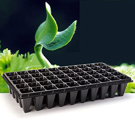 20 X 8 Cell Full Size Seed Tray Inserts Plug Trays Bedding plant Packs Plastic