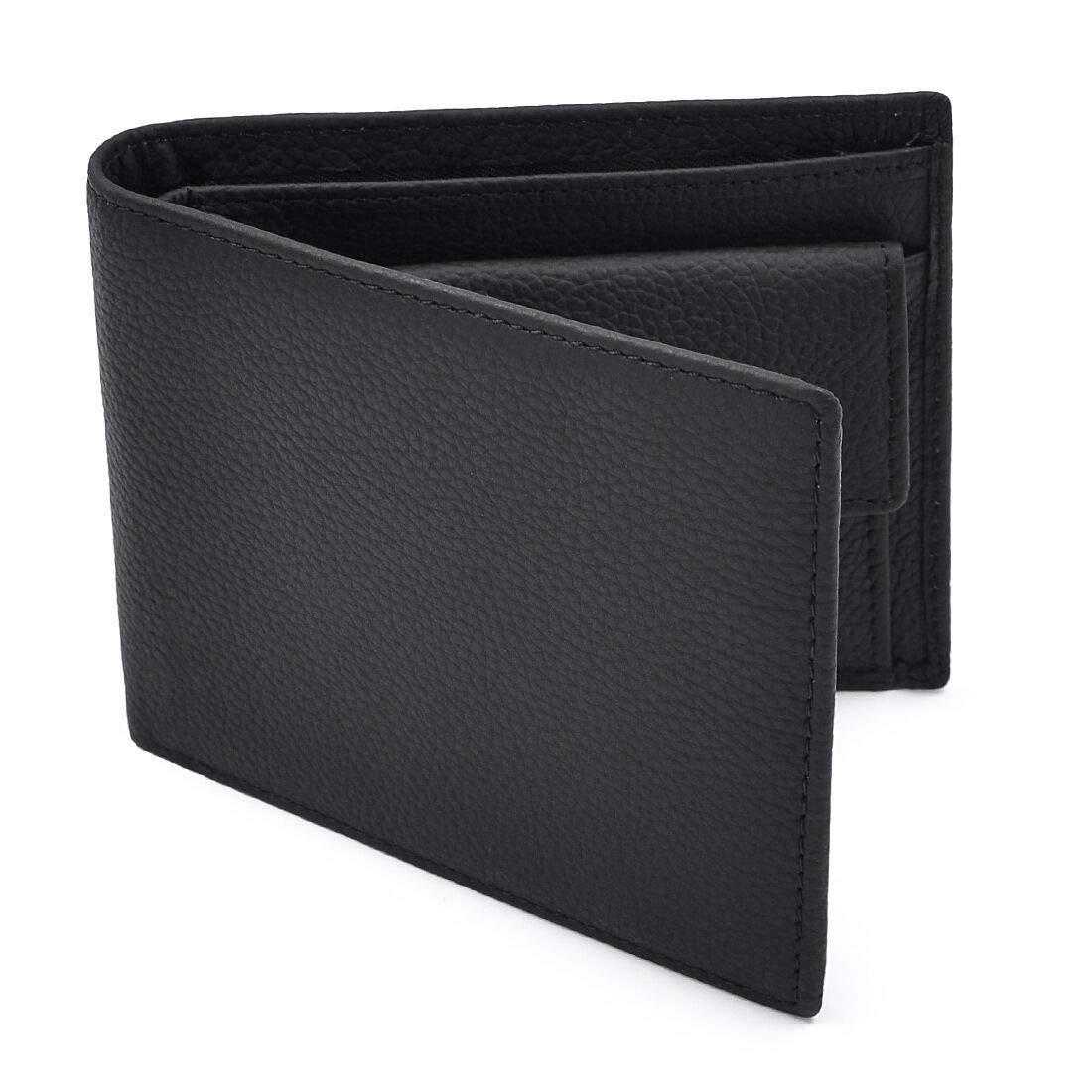Newhey Cartera Hombre Cuero Billetera RFID Bloqueo Monedero Tarjetas Crédito Moda con Bolsillo Monedas Negro product