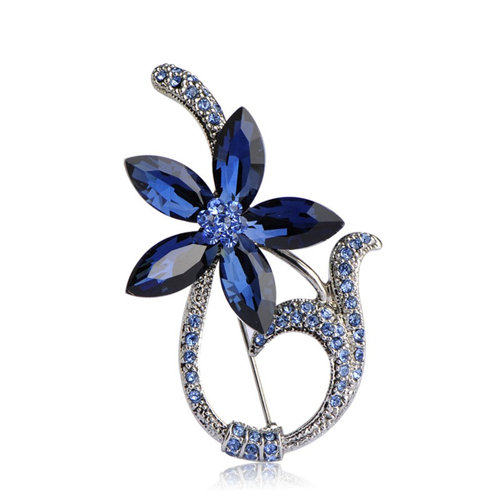 Amazon.com: Astral Large Luxury Crystal Vintage Jewelry Wedding Brooches  Bouquet Corsage Brooch Lot Rhinestone Flower blue: Jewelry