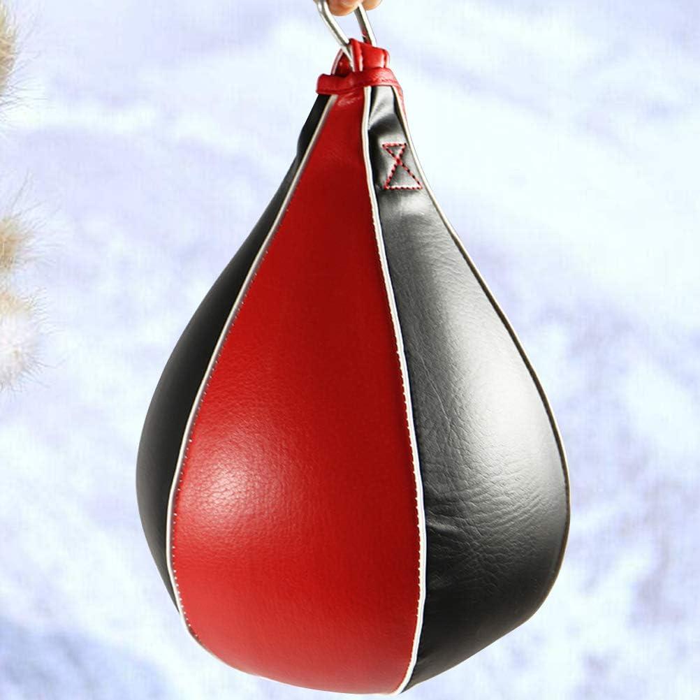 Noir et Rouge LIOOBO Ballon de Boxe Vitesse Sac de Vitesse Ballon dentra/înement pour lexercice dentra/înement