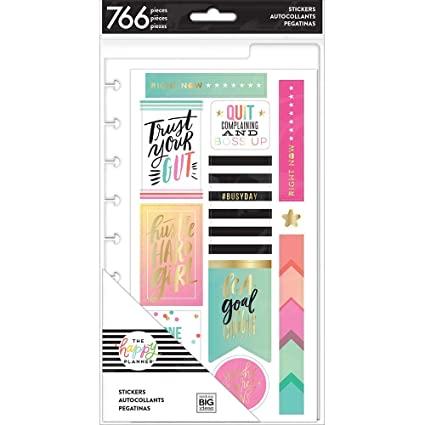 The Happy Planner Scrapbook Stickers, 20 Sheets 766 Count