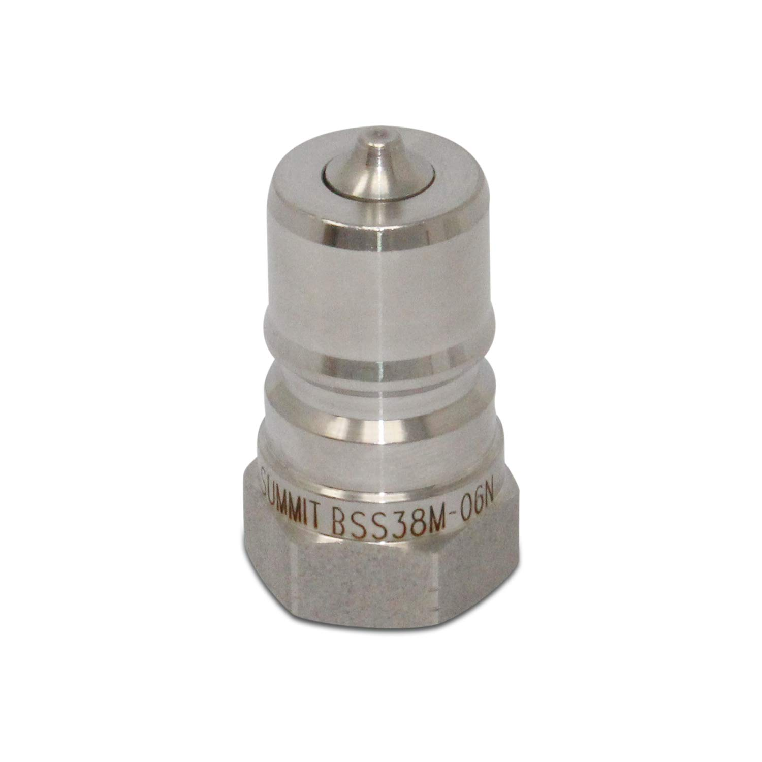 3//8/″ NPT ISO 7241-B Stainless Steel Quick Disconnect Hydraulic Male Coupler Summit Hydraulics