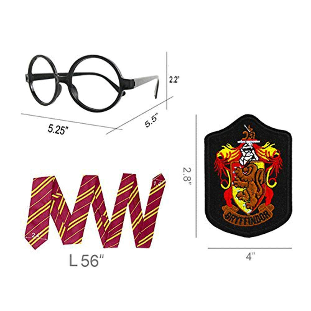 Striped Tie with Novelty Glasses Frame for Cosplay Costumes Accessories