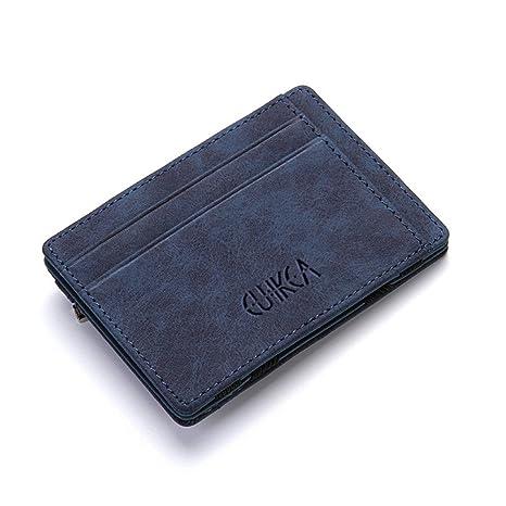 Ultra fino nuevo diseño para hombre de cuero de la PU billetera Mini Magic carteras y