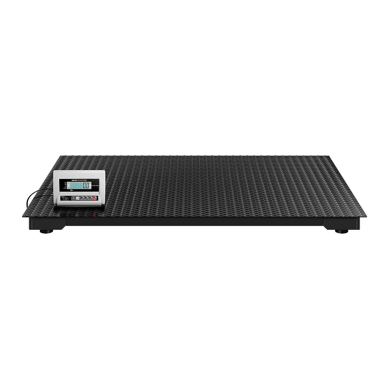 Steinberg Systems Báscula De Suelo Balanza Industrial de Plataforma SBS-BW-1T/0.5A (1.000 kg / 0,5 kg, Pantalla LCD, Superficie De Pesaje: 100 x 100 cm): ...