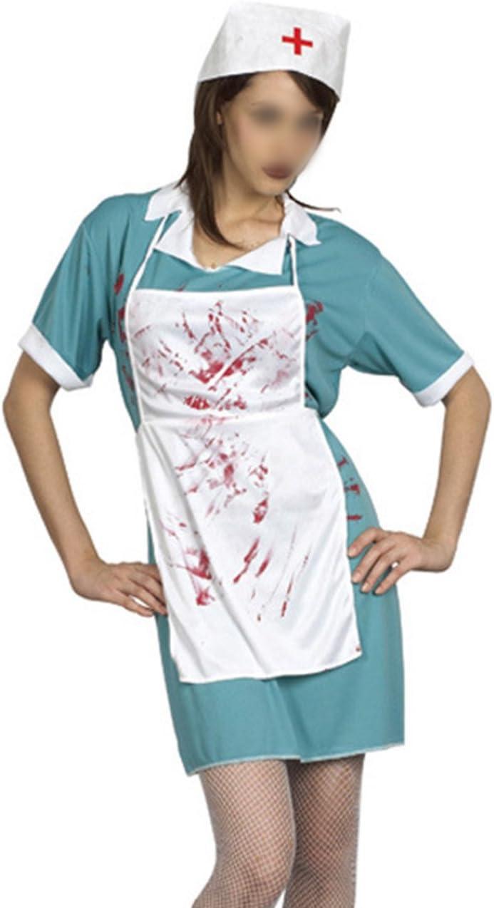 THEE Adultos Disfraz de Médico Enfermera de Halloween: Amazon.es ...