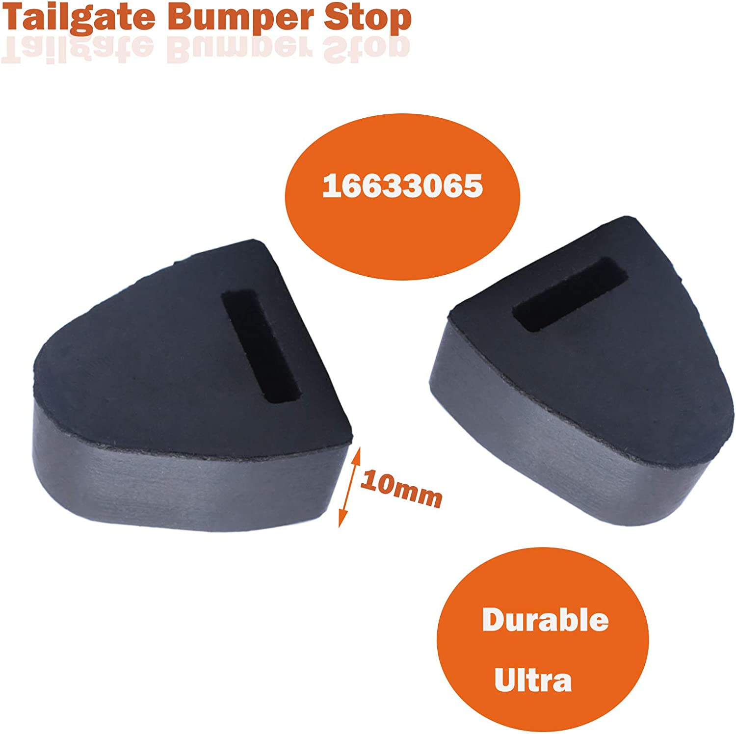 Replaces for GM 16633065 Dorman 45679 by Ketofa Right or Left Rubber Tailgate Bumpers Stop 16633065 Tailgate Latch Bumper Stop for 1999-2007 Chevy Silverado GMC Sierra Pickup