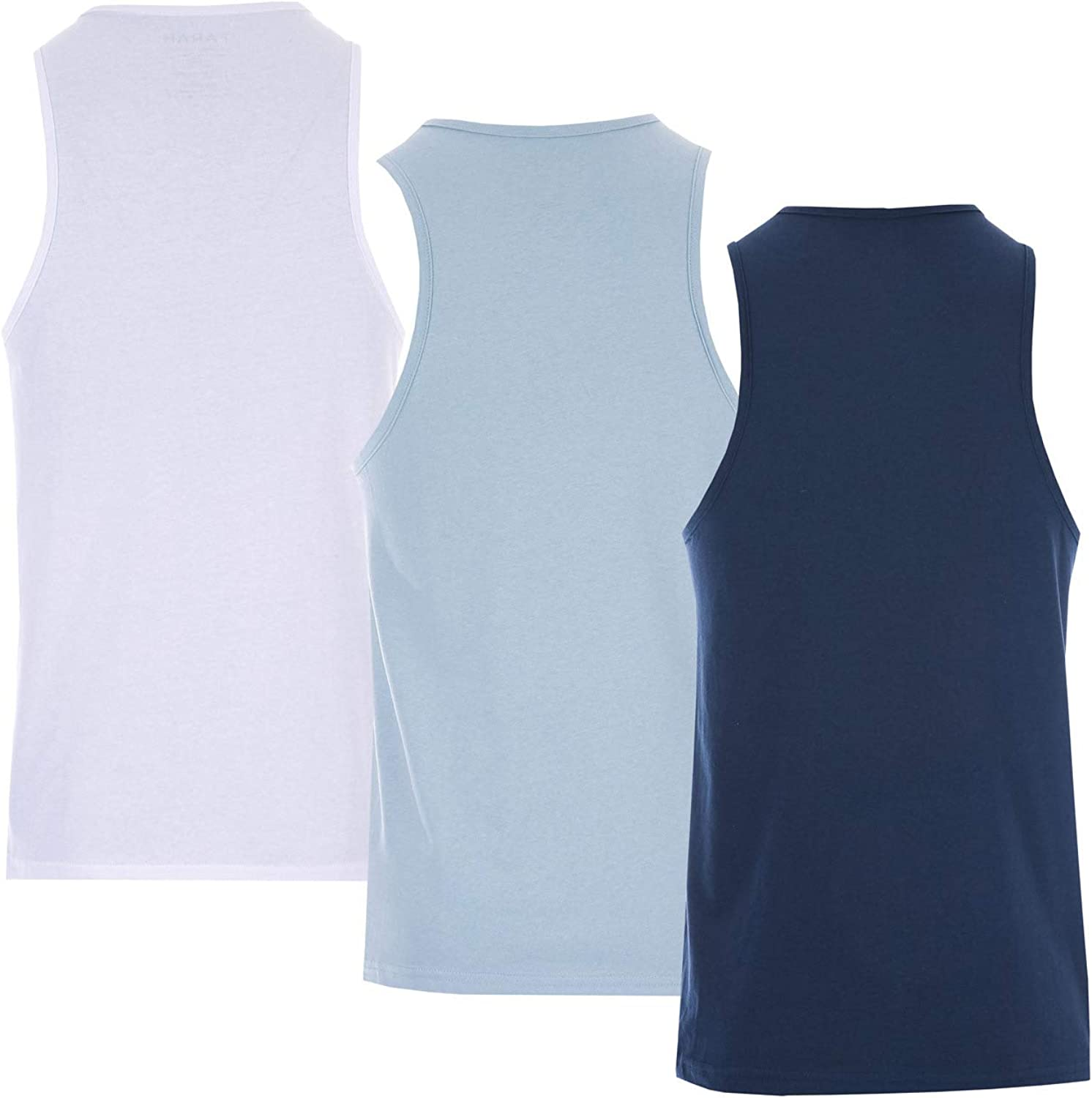 Farah Mens Vestire 3 Pack Vests in Navy//White//Light Blue One One Vest White