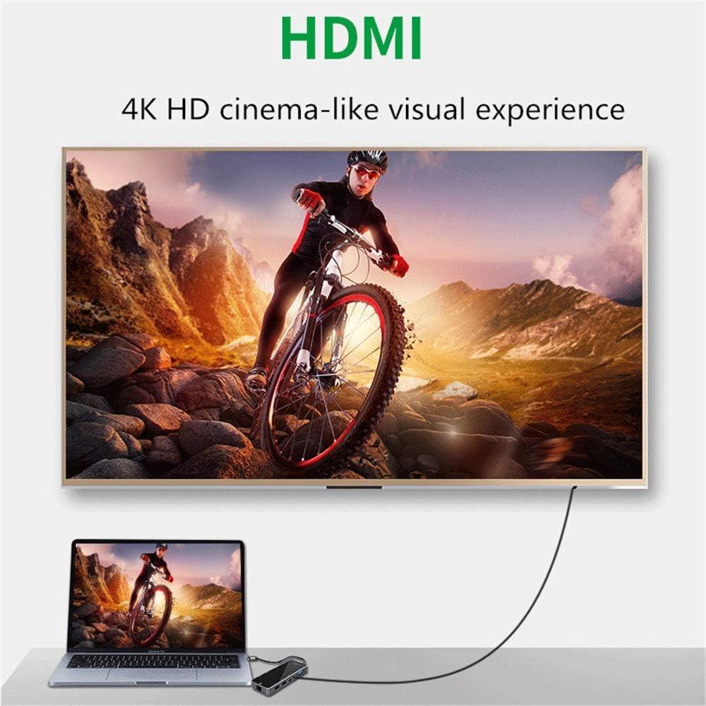 Color : Black, Size : 49 x 135 x 16mm KMCMYBANG USB Hub 10 Port USB 3.0 Hub Ultra Slim High-Speed USB Splitter Portable Extension Data Hub Compatible Powered USB Hub