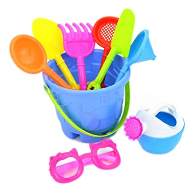 Firiodr 9PCS/Set Random Color Kids Sand Beach Toys Castle Bucket Spade Shovel Rake Water Tools SetKids Toys Birthday Gift: Computers & Accessories