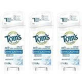 Tom's of Maine Long-Lasting Natural Deodorant, Aluminum Free Deodorant, Deodorant for Women, Unscented, 2.25 Ounce, 3…