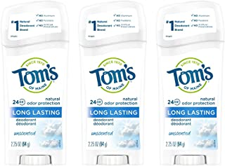 product image for Tom's of Maine Long-Lasting Aluminum-Free Natural Deodorant for Women, Unscented, 2.25 oz. 3-Pack