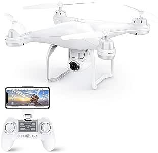 Potensic Drone GPS, Drone con Cámara 1080P HD con Follow Me, 120º Gran Angular, RTF Altitude Hold, Modo Sin Cabeza y Retorno a Casa, T25 Blanco