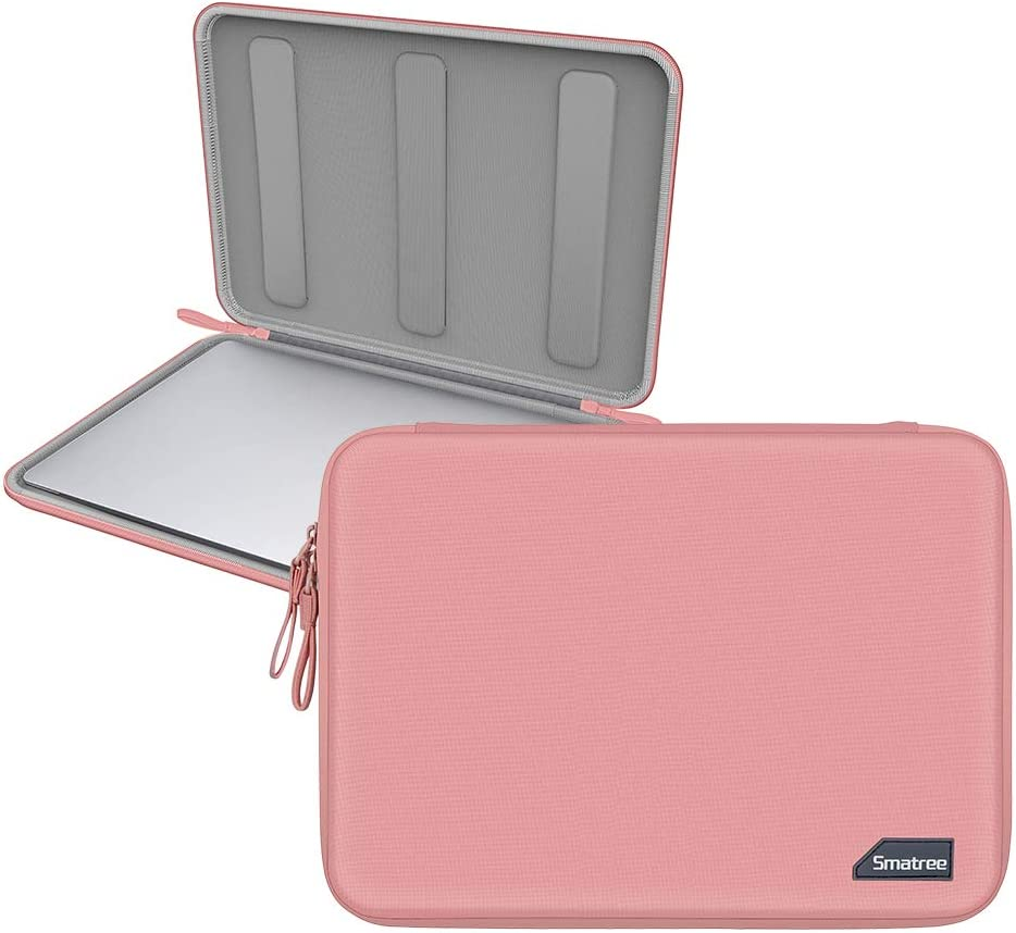 Smatree Hardshell Laptop Sleeve Compatible with 13.3inch MacBook Air/MacBook Pro 2020/2019/2018/2017 /12.9inch iPad Pro/ 12inch MacBook/ 11.6inch MacBook Air/Tablet Sleeve Case (Pink)