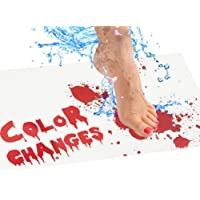 Halloween Bloody Bath Mat for Shower Bathroom, Color Changing Sheet Turns Red When Wet, Make Your Own Bleeding…