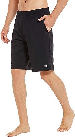 Amazon.com: BALEAF Pantalones cortos de yoga para hombre ...