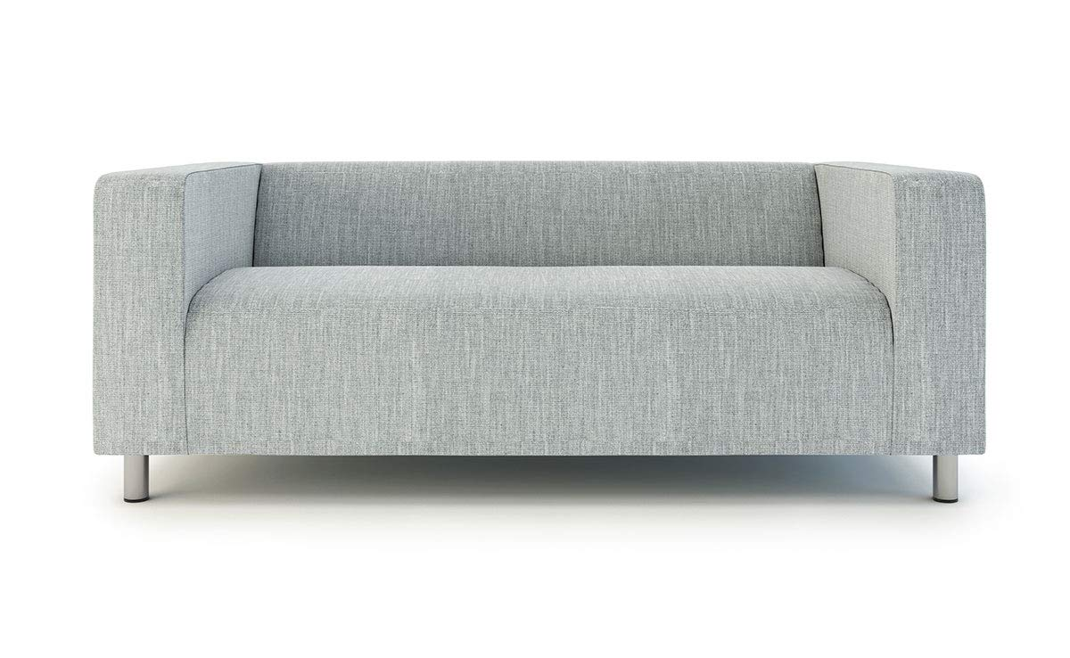 Enjoyable Klippan Loveseat Slipcover For The Ikea 2 Seater Klippan Loveseat Sofa Cover Replacement Polyester Light Grey Machost Co Dining Chair Design Ideas Machostcouk