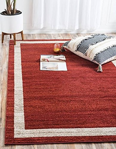 Unique Loom Del Mar Collection Contemporary Transitional Terracotta Area Rug (2' 2 x 3' - Transitional Cotta Terra