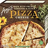Amy's Frozen Cheese Pizza, Made with Mozzarella and Organic Tomatoes, Hand Stretched Crust, Single Serve
