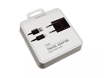 Samsung Cargador Micro USB 10 vatios EU Negro Original Cable ...