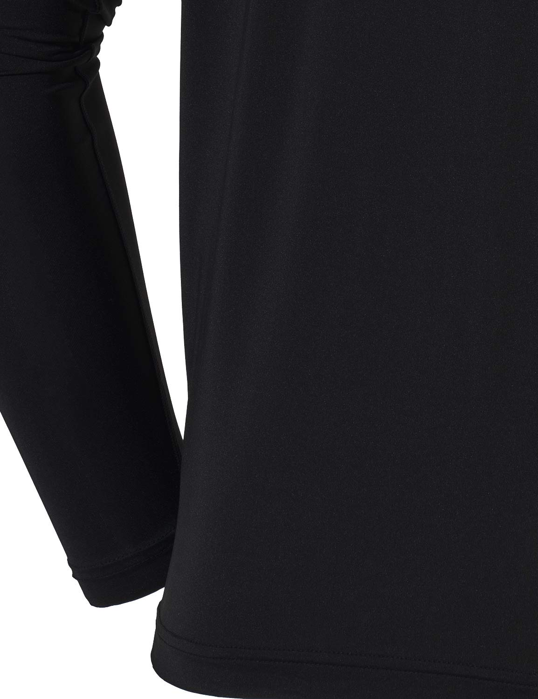 TSLA Mens UPF 50+Swim Shirt Swim Long Sleeve Tee Rashguard Top
