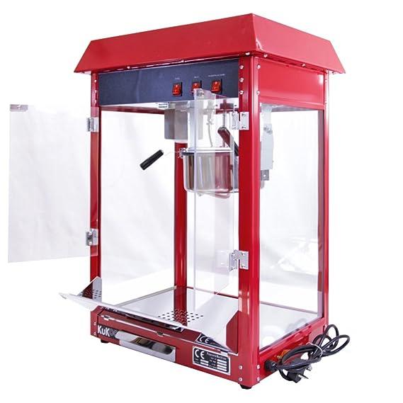 Kukoo - Máquina para Hacer Palomitas de Maíz Roja 230g de Acero Inoxidable: Amazon.es: Hogar