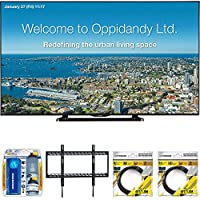 Sharp 70 Full HD Commercial LED-LCD TV (PN-LE701) with Xtreme TV/LCD Screen Cleaning Kit, Xtreme Ultra Slim Low Profile Flat Wall Mount for 60-100 Inch TVs &2 x 6ft High Speed HDMI Cable Black