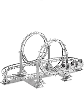 3D Metal Vehicle Model Puzzle, DIY Stainless Steel Hobby Metal Model Building Kits, Assembly 3D Mechanical Educational Jigsaw Puzzle, 3D Puzzle for Home Desktop Decor (Roller Coaster)