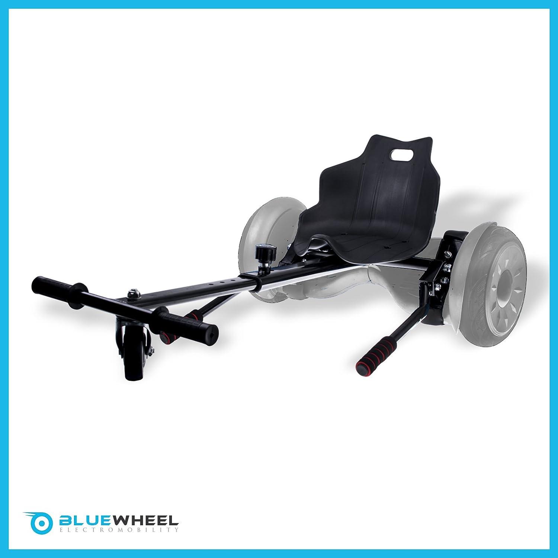 Bluewheel Sitzscooter HK200 Kart Sitz Erweiterung für 6, 5-10 Zoll Self Balance Scooter, Hover, E-Kart, Kart,Elektro Go-Kart, Sitzaufsatz, Schalensitz & Umbausatz, anpassbarer Stahl-Rahmen Bluewheel Electromobility