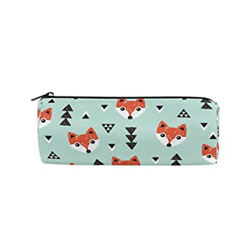 Ahomy Estuches de lona Cartoon Fox Head con cremallera bolsa ...