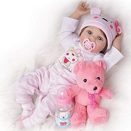 Amazon.com: Aspecto REAL muñeco Reborn Girl silicona traje ...