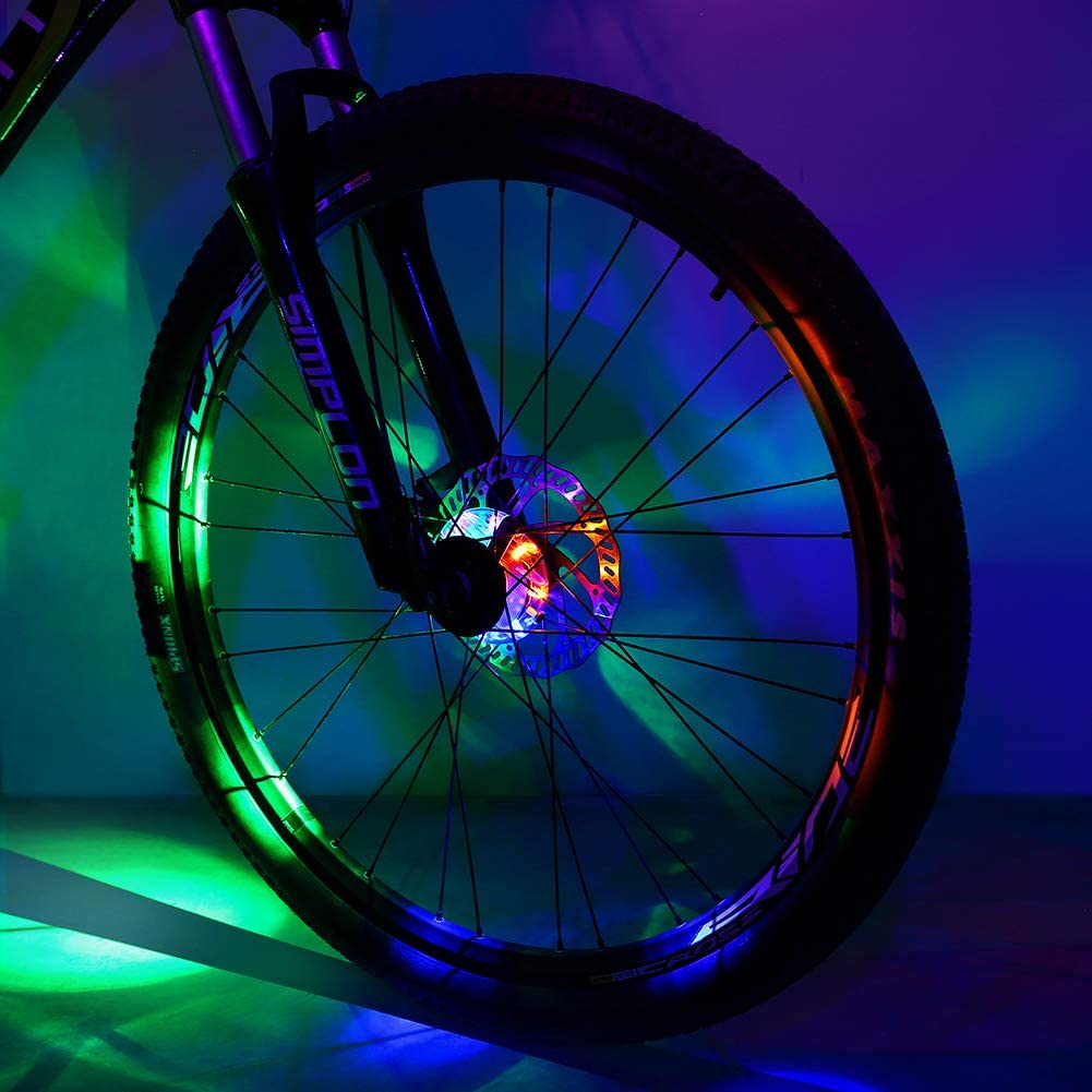 Sarissa Bicycle Hub Light, Safety Waterproof Bike Wheel Lights LED Cycling Spoke Rim Light for Kids Adults Night Riding