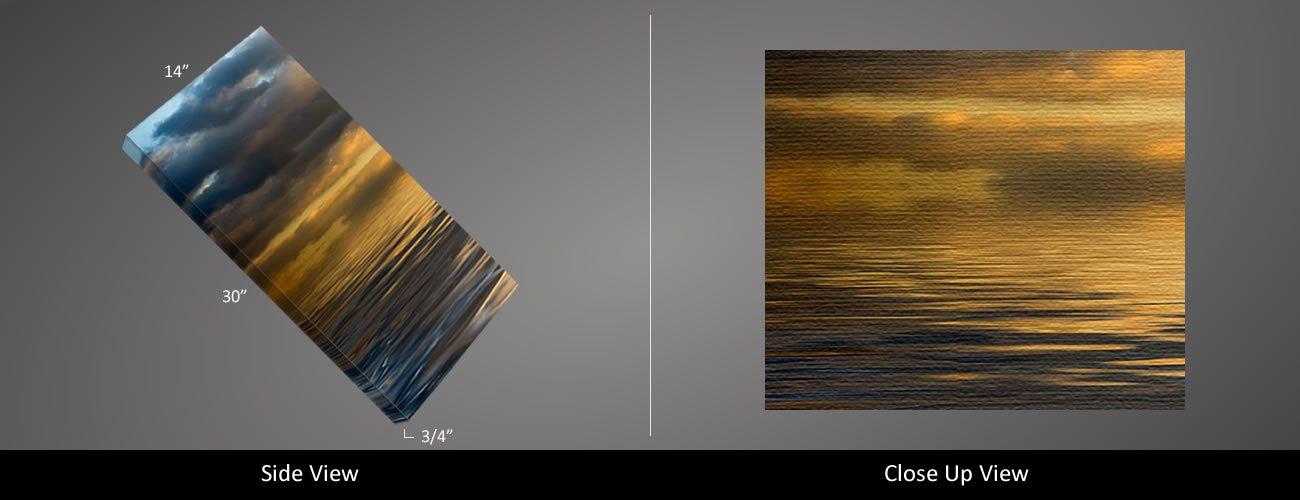 Picture Sensations Framed Huge 3-Panel Modern Art Horizon Ocean Sky Giclee Canvas Art