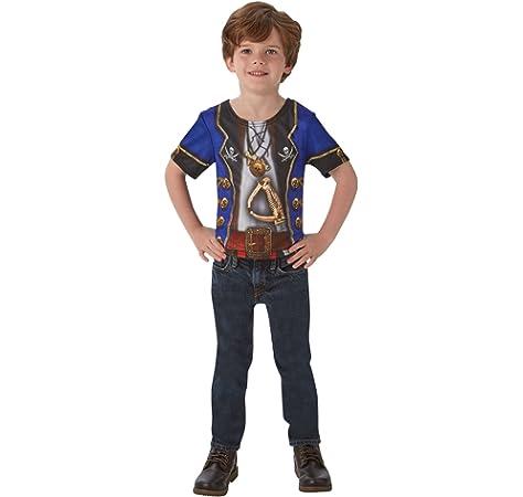 Disfraz de Pirata para niño, camiseta - infantil 3-4 años (Rubies 630695-S): Amazon.es: Juguetes y juegos
