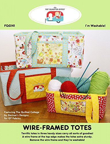 Pattern Framed - Fat Quarter Gypsy FQG145 Wire-Framed Potluck Totes Pattern