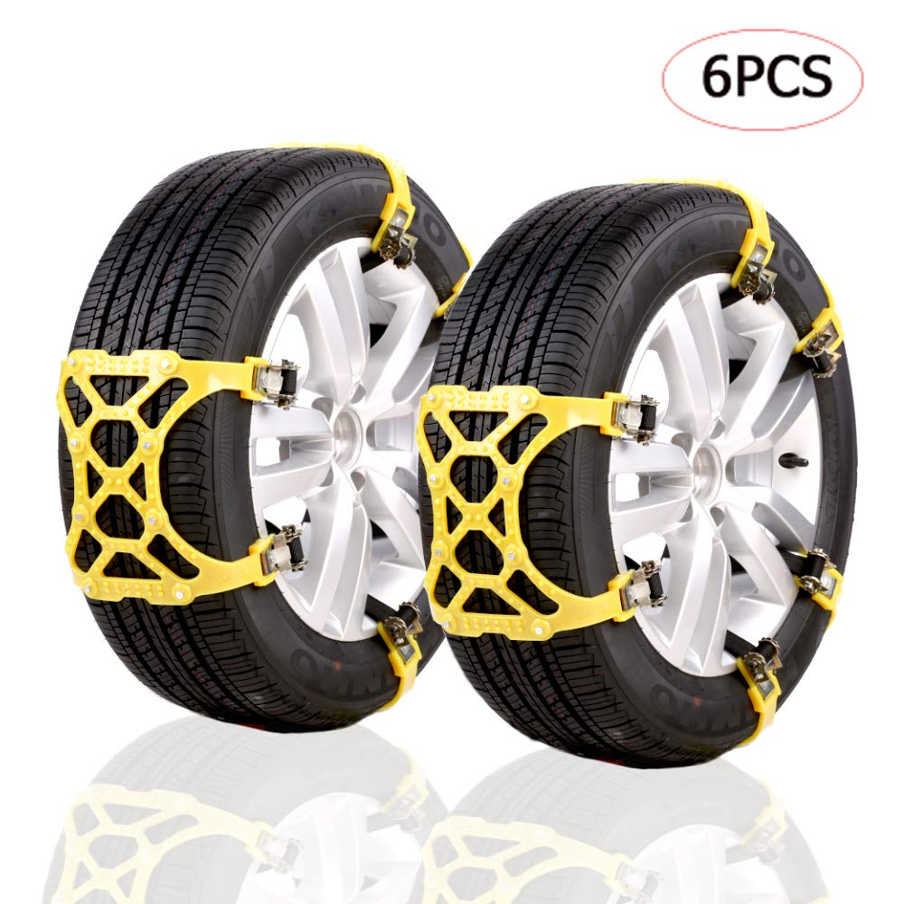 KYQ Snow Chains Anti Skid Chains-Universal Emergency Thickening Chains, Easy and Quick Mounting tire Chains for Most Truck/Car/SUV(Width 6.5-10.5inch) KIYOYO