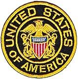 Écusson thermocollant à coudre/repasser avec l'inscription United States of America.