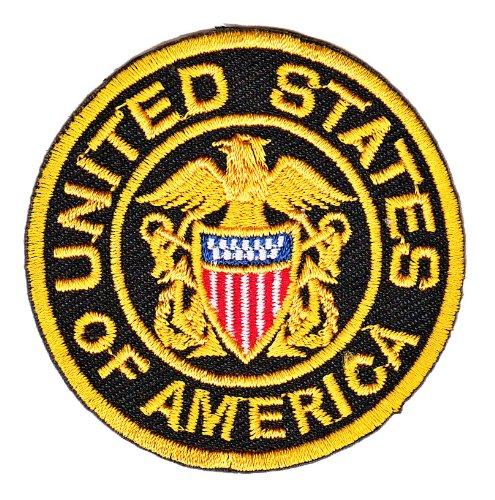 Bestellmich Motivo Stemma degli Stati Uniti dAmerica Aufn/äher Applicazione da incollare a Caldo con Il Ferro da Stiro