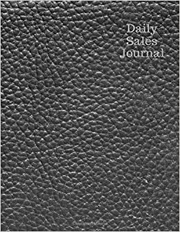amazon com daily sales journal grey leather expense ledger stock