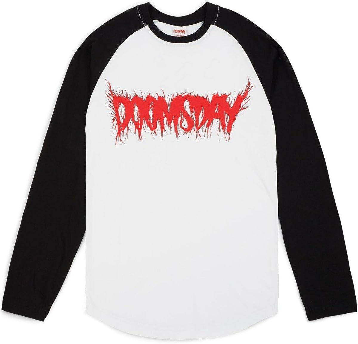 Doomsday Logo Metal – Camiseta – Negro/Blanco – S: Amazon.es: Ropa y accesorios
