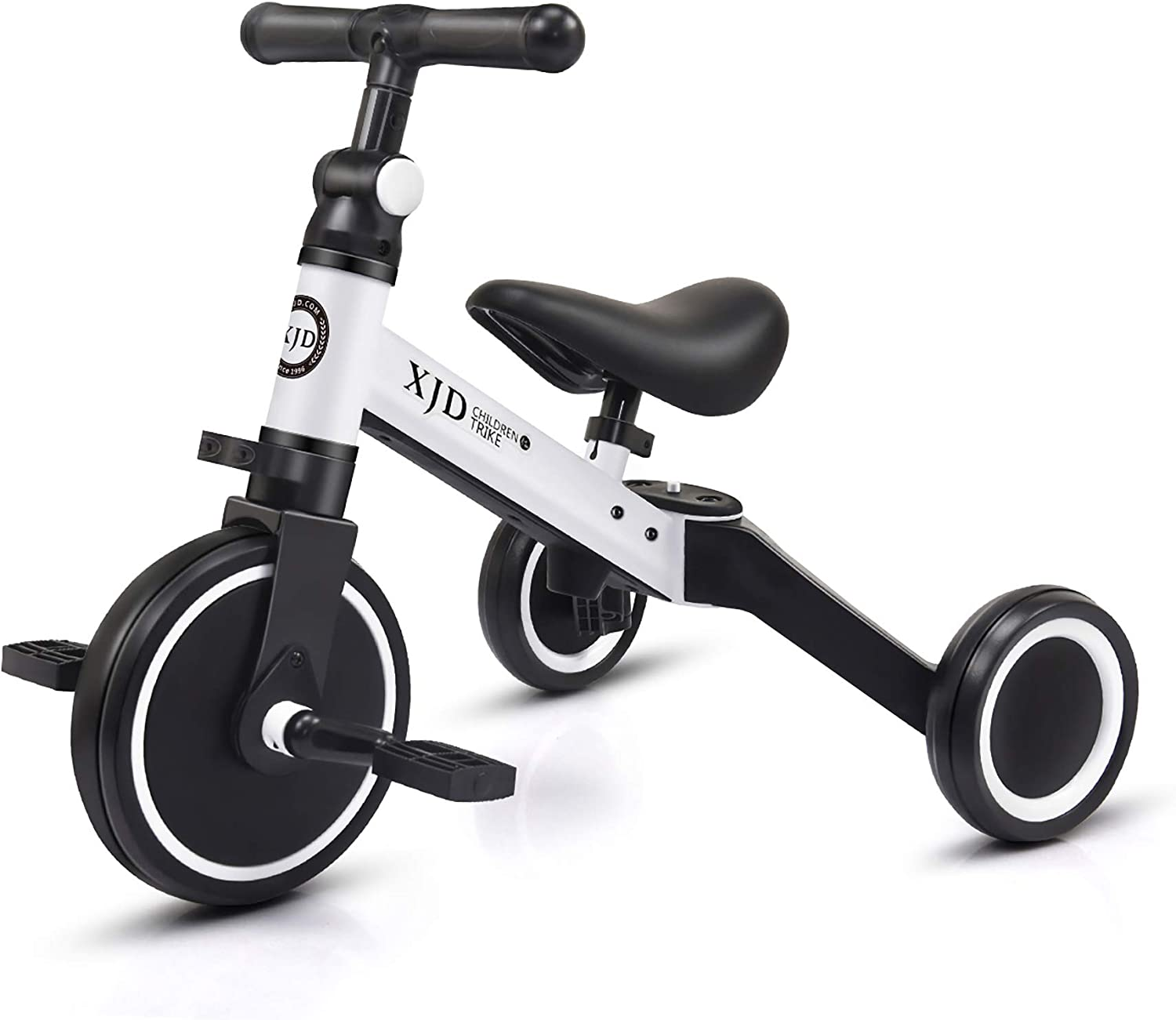 XJD 3 in 1 Kids Tricycles for 1-3 Years Old Kids Trike 3 Wheel Toddler Bike Boys Girls Trikes for Toddler Tricycles Baby Bike Trike Upgrade 2.0, White : Sports & Outdoors