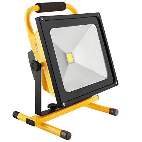 50W LED Work Light Rechargeable Portable Flood Light Battery Powered Flood  Light for Outdoor Lighting,Camping,Hiking,Fishing,Car